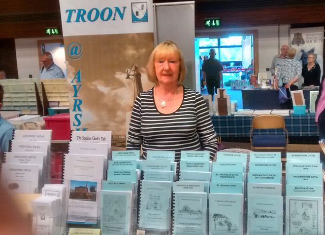 Our stand at Lanarkshire History Fair. Sep. 2016
